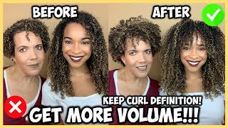 How to Get MORE VOLUME & Keep Curl Definition | Short & Long Hair!