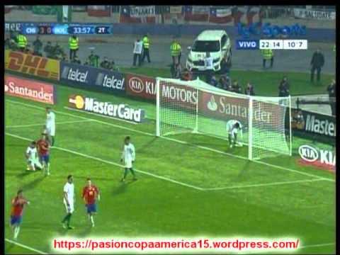 Chile 5 Bolivia 0 (Relato Ernesto Diaz Correa) Copa America 2015 Los goles