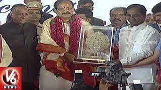 CM KCR Felicitate Vice President Venkaiah Naidu | Raj Bhavan