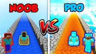 Minecraft NOOB vs. PRO: LONGEST SLIDE in Minecraft!