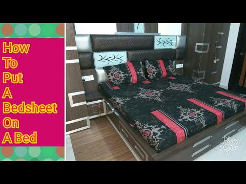 How to Perfectly Make a Bed- Fast with Easy tips || How to Put A Bedsheet On A Bed || ROOM TOUR