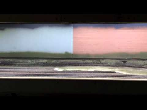 LED Lighting Test & Check of my new Photo Backdrop HO Scale Model Railroading Layout