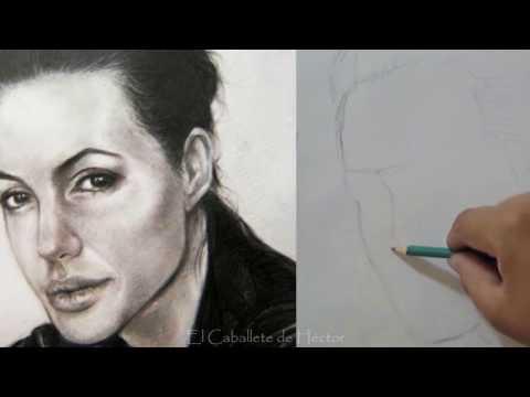 Como dibujar un rostro (  Aprende a proporcionar un retrato - Encaje ) Tutorial completo de Dibujo