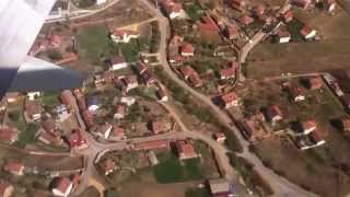 Landing at Prishtina Airport