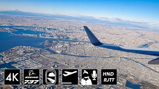[4K圧倒的関東平野] ディズニーランド上空旋回  JAL201便 羽田空港34R離陸