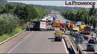 Vaucluse : une portion de l'A7 fermée après un grave accident faisant 3 morts et 2 blessés à Vedène