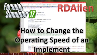 How to Change the Operating Speed of an Implement in Farming Simulator 17