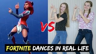 FORTNITE DANCE CHALLENGE IN REAL LIFE ~ Jacy and Kacy