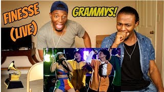 Download Lagu Bruno Mars and Cardi B - Finesse (LIVE From The 60th GRAMMYs ®)(REACTION) Gratis STAFABAND