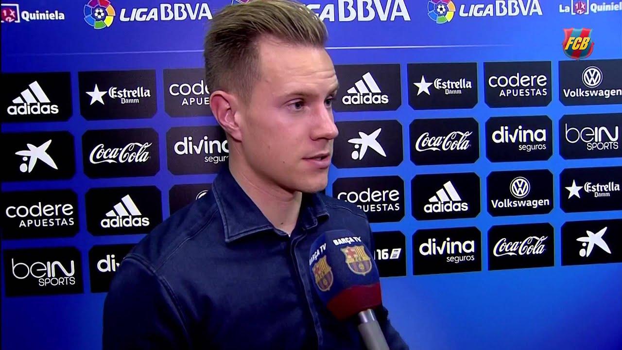 Ter Stegen and Kaptoum react to reaching the Copa del Rey final