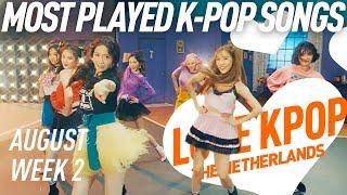 [TOP 40] Most Played K-Pop Songs - August Week 2