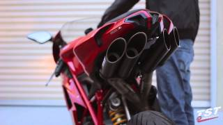 Extended Raw Sound Clip : Ducati 848 1098 1198 Toce Exhaust video by TST Industries