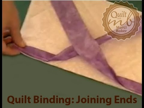 Quilt Binding: Joining Ends, Marci Baker of Alicia's Attic