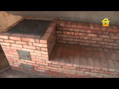 Уличная плита с мангалом