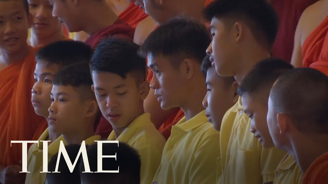 Thai Soccer Team Spends Their First Day At Home With Families Since Rescue | TIME