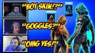 Streamers *REACT* To New Insight + Longshot Skins! Funny Fortnite Clips & Crazy Moments!