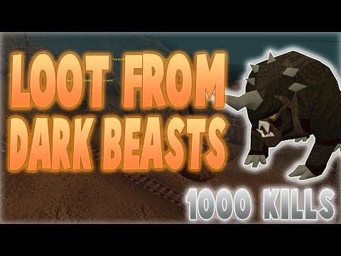 Runescape 2017   Loot From 1000 Dark beast kills!   AWESOME GP