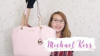 MICHAEL KORS JET SET TRAVEL LARGE CHAIN SHOULDER TOTE IN LEATHER REVIEW