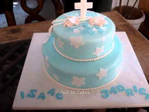 Fondant Cake For Baptism : Pin Christening Baby Shower Cake Dress Covered In Fondant ...