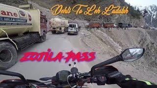 Zoji La pass not safe Road solo ride   jammu to kargil day 2   EP-11