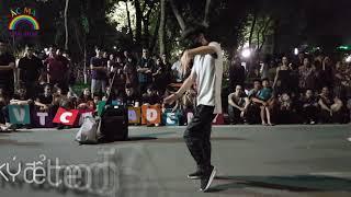 Nhảy popping ngẫu hứng trên Phố Đi Bộ