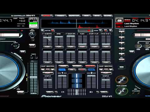 New Virtual DJ V7 Pro skin Pioneer DDJ-V1 V1.0  Full release Jan 2012
