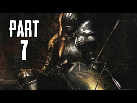 Dark Souls 2 Gameplay Walkthrough Part 7 - Flexile Sentry Boss (DS2)