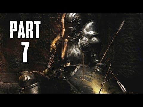 Dark Souls 2 Gameplay Walkthrough Part 7 - Flexile Sentry Boss (DS2)