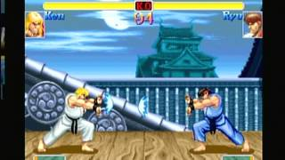 Capcom Classics Collection volume 2 - Super Street Fighter 2 Turbo (Playstation 2) Game Play