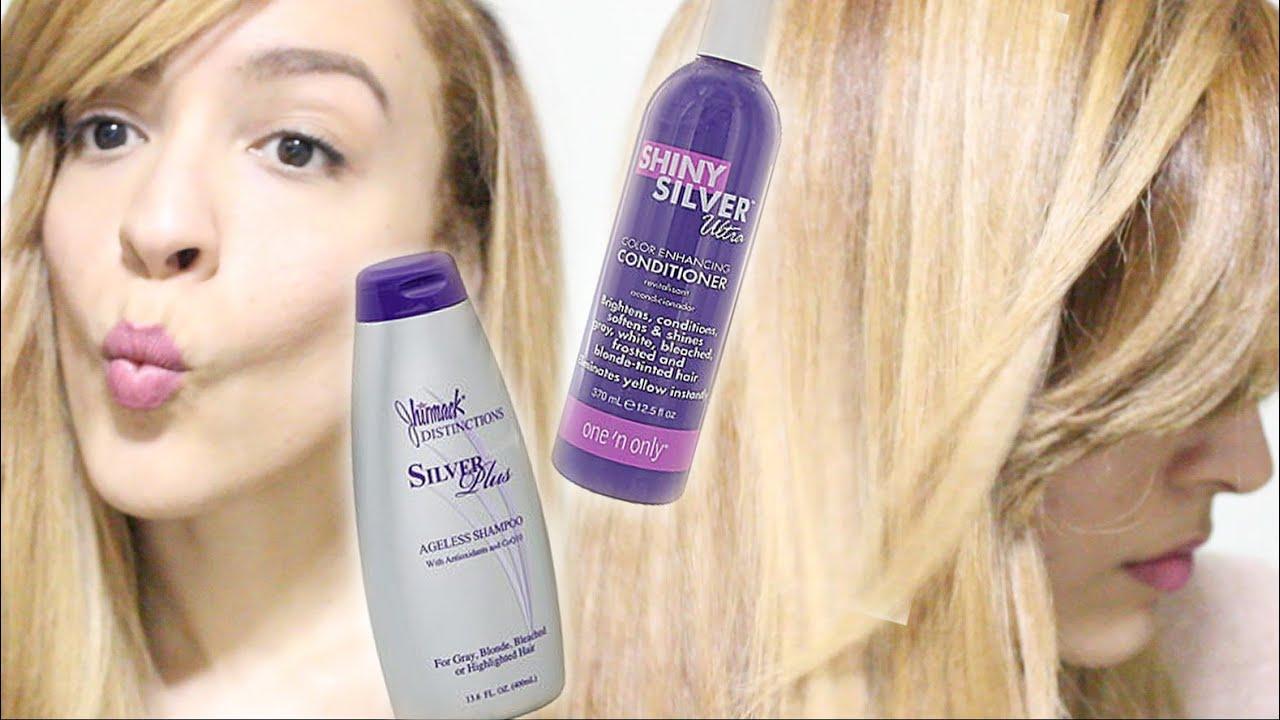 Purple Shampoo Before And After Jhirmack Purple Shampoo Shiny Silver