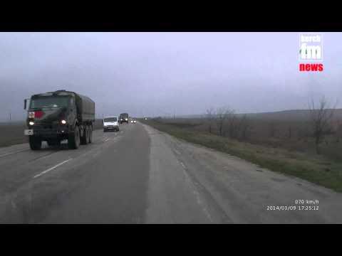 Российские колонны двигаются по Крыму