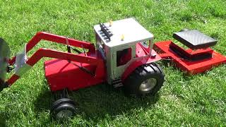 Rc lawn mower build first test.Tractor homemade.