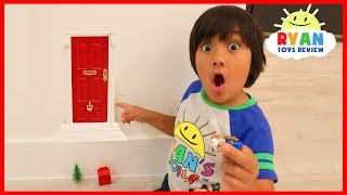 Ryan Found A Secret Door in our house to the North Pole for Christmas!