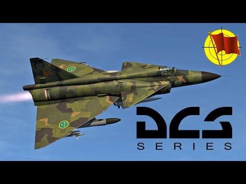 DCS World: AJS 37 Viggen - холодный запуск, руление, взлет (перевод официального ролика)