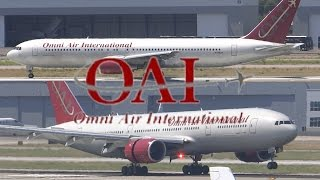 HD RARE Omni Air International Boeing 767/777 N396AX/N846AX at San Jose International Airport