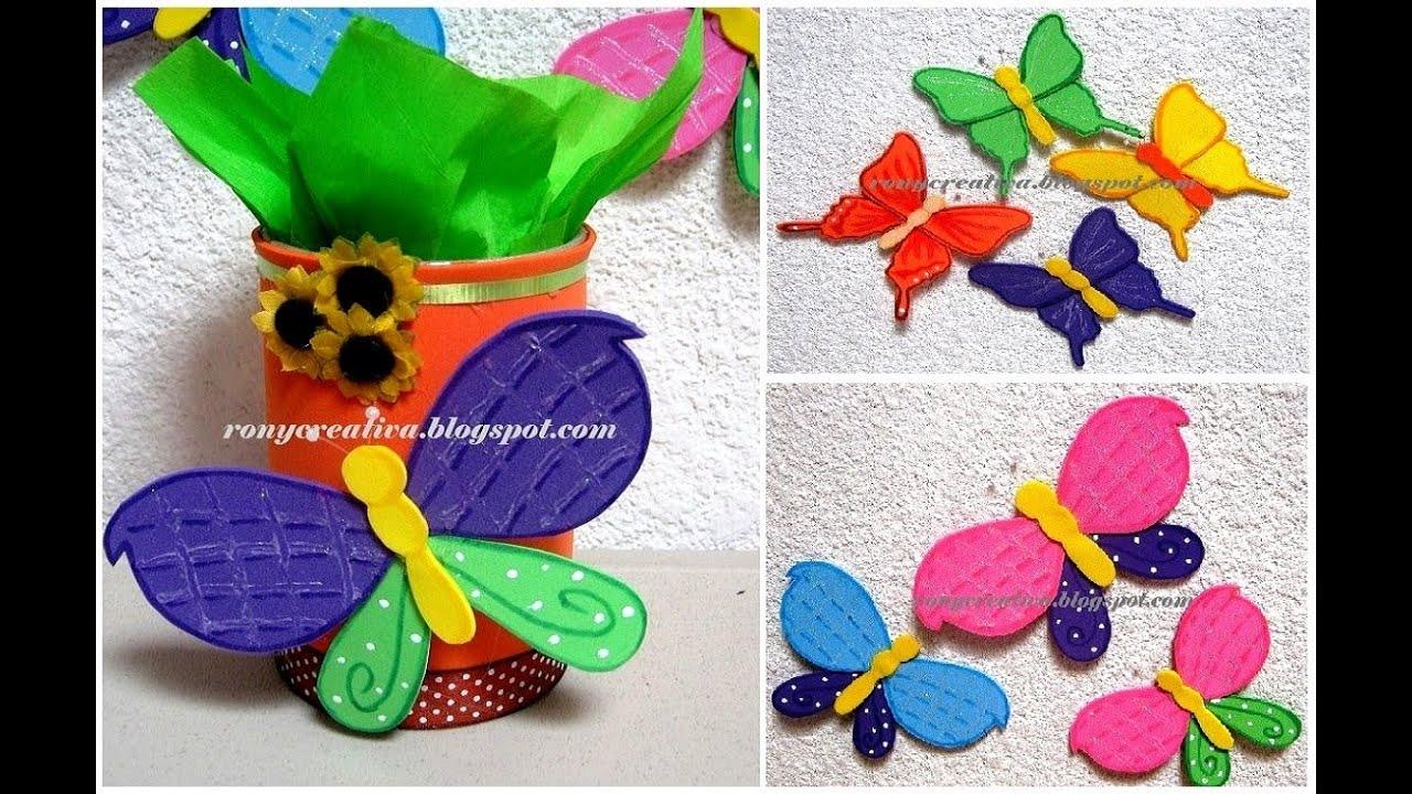 Primavera como hacer mariposas de fomi o goma eva youtube - Como hacer mariposas de goma eva ...