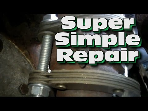 Best easy Exhaust Flange Donut Super Easy Tail Pipe and Muffler Repair about 15 bucks