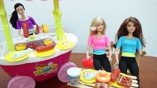 Đồ chơi trẻ em - đồ chơi nấu bếp - búp bê bán đồ nướng- Barbie BBQ (Barbecue) Play Set