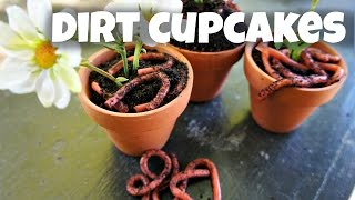 How to Make Dirt Cupcakes - Oreos & DIY Gummy Worms