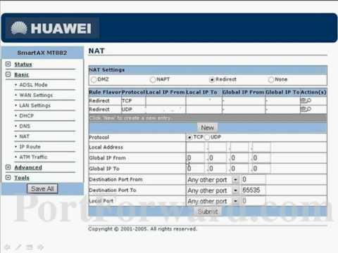 Abrir puertos en Router HUAWEI MT 880