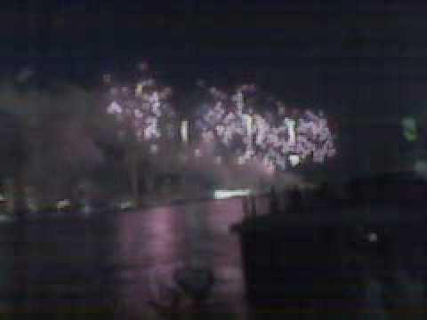 June 21, 2010 Windsor Ontario Canada & Detroit Michigan USA Fireworks