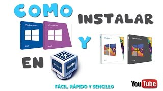 Como Instalar Windows 8, 8.1 Con VirtualBox!!! (Fácil y Rápido ) HD || Instalar windows virtual