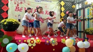 Nhảy múa bài TẾT LÀ TẾT điểm 4 trường mầm non Hoa Hồng Đỏ