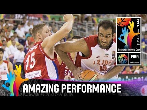 Hamed Haddadi - Amazing Performance - 2014 Fiba Basketball World Cup video