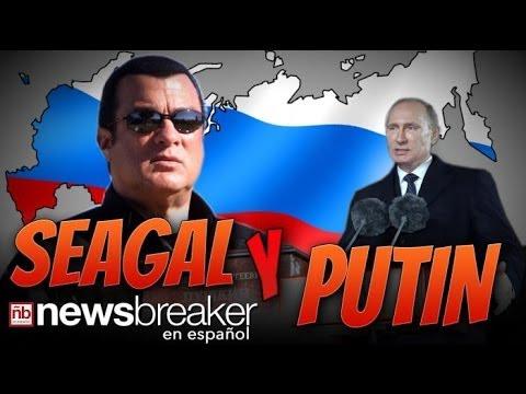 ¿UNIENDO FUERZAS?: El actor Steven Seagal y Vladimir Putin podrían estar uniendo fuerzas para...
