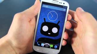 Samsung Galaxy S3 Running 4 2 2   CyanogenMod 10 1 Jelly Bean Rom Review HD