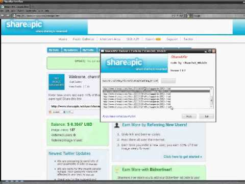 Online Money Hacking Tool (Shareapic.Net Hacking 1000% worked on window XP/7/8)