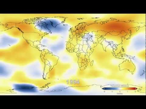 NASA animation of temperature data from 1880-2011
