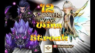 Summoners War : RTA season 9 diary day #6 - Howtoplay 12 wins streak - Back to rank 1