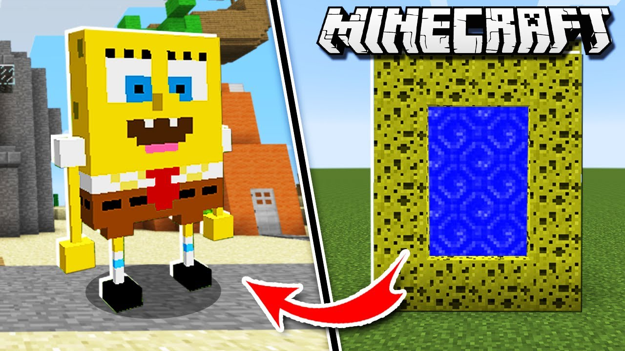 Make a PORTAL to the SPONGEBOB DIMENSION in Minecraft!
